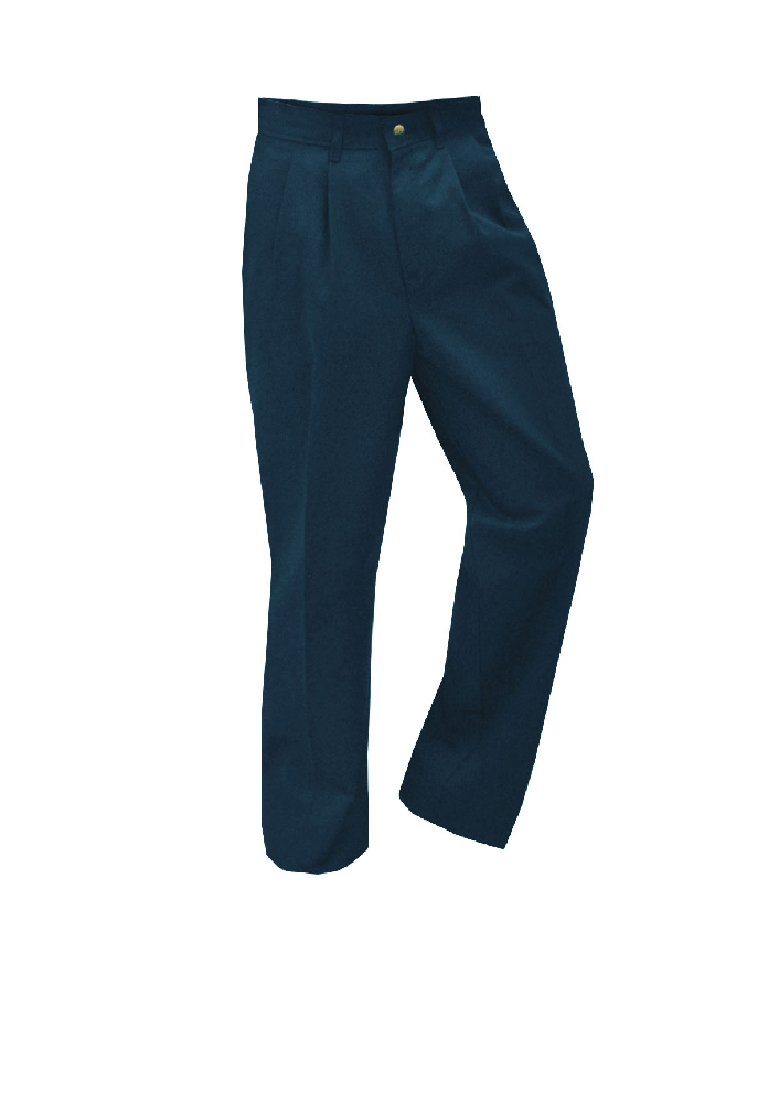 Pleated Twill Pants Navy – Boys – Size 3-7 Youth