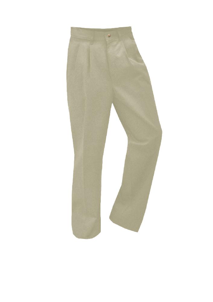 Pleated Twill Pants Khaki – Boys – Size 3-7 Youth