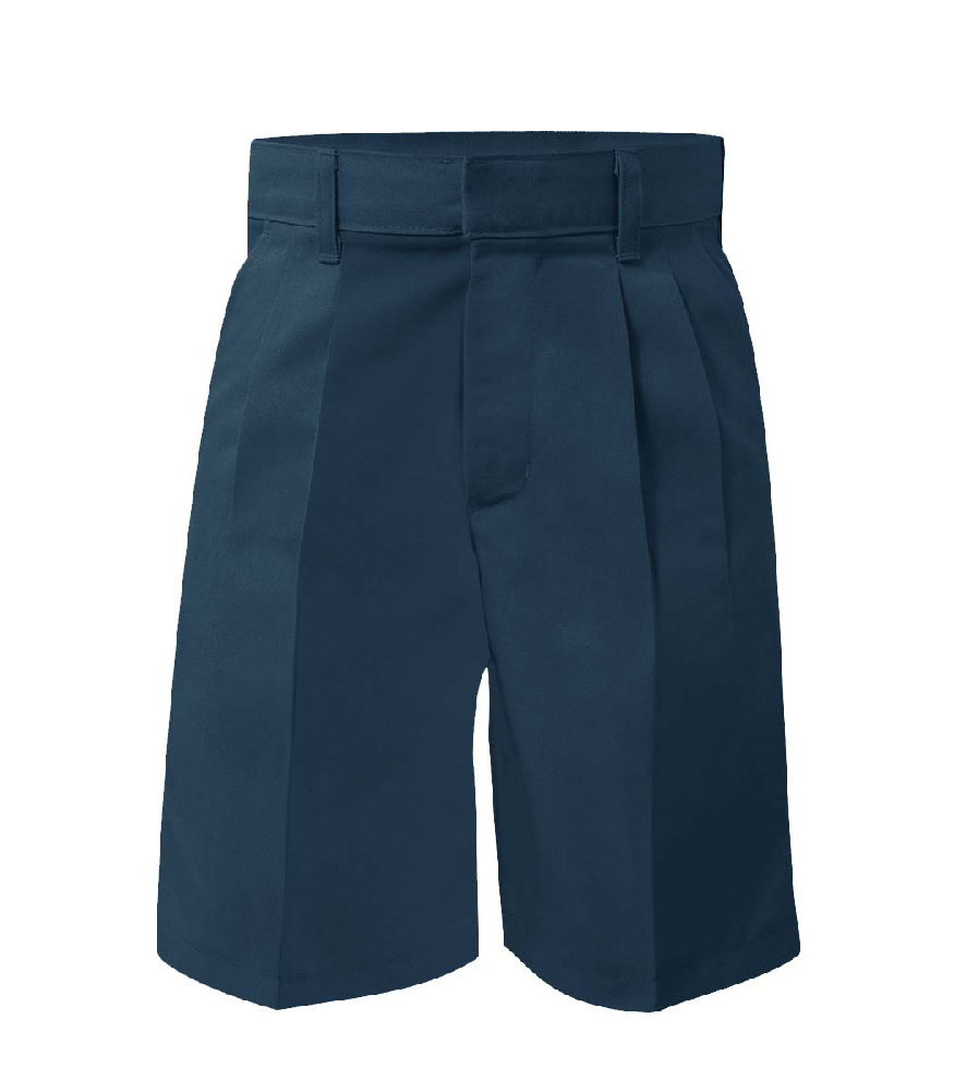 Pleated Twill Shorts Navy – Size 3-7 Youth