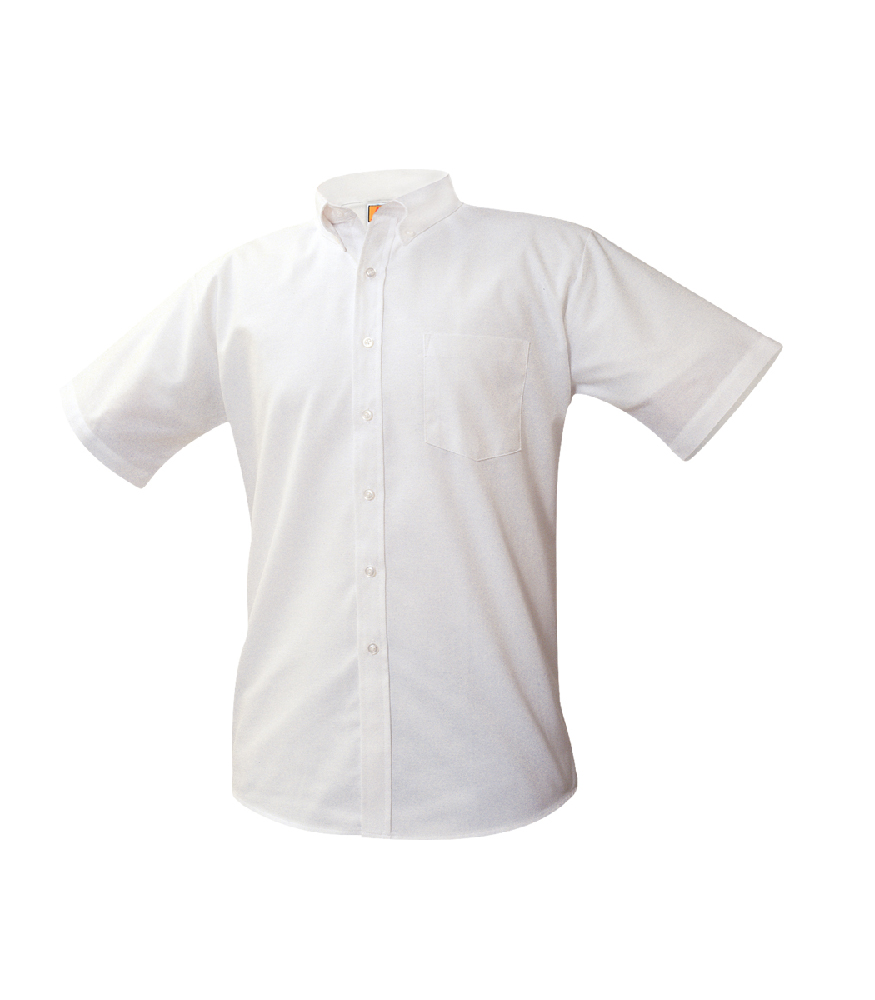 Oxford-White, Short Sleeve EMB-ARC – Size 3-6 Regular