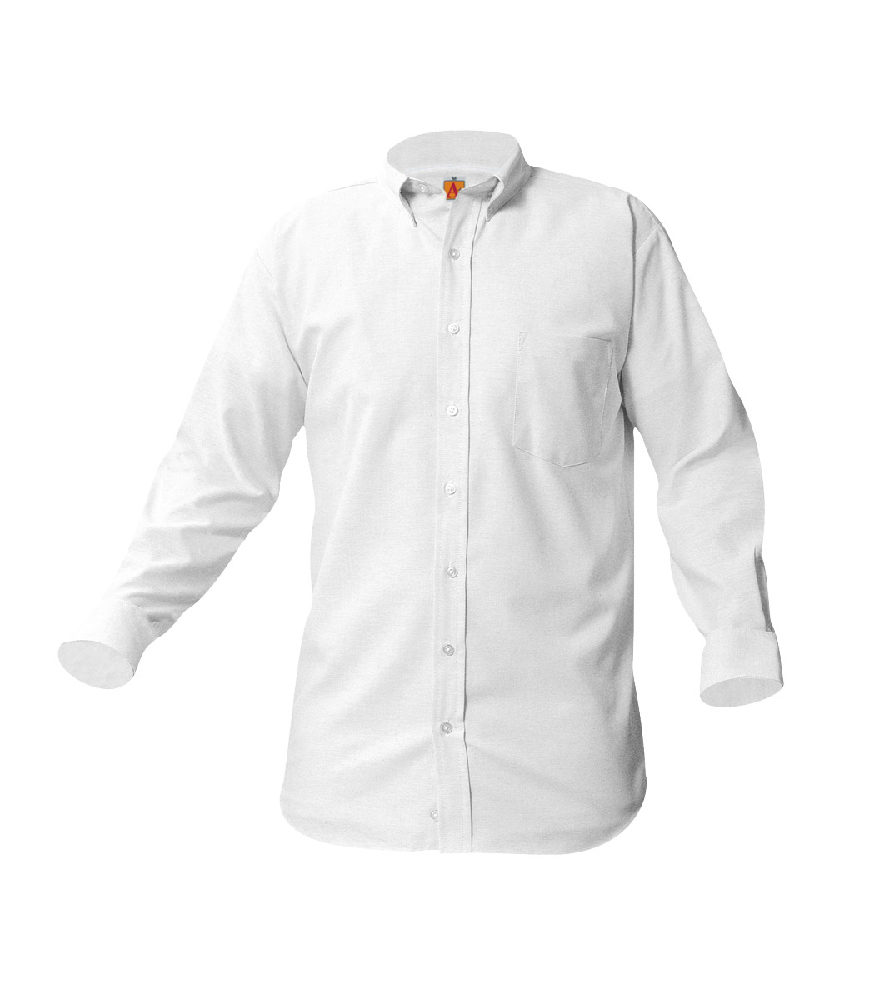 Oxford-White, Long Sleeve EMB-ARC – Size 3-6 Regular