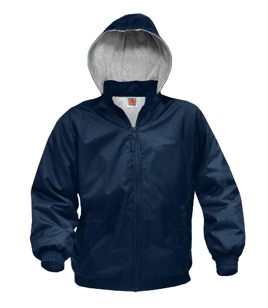 Windbreaker-Hooded Navy, EMB-ARC – Size Youth XXS – XL