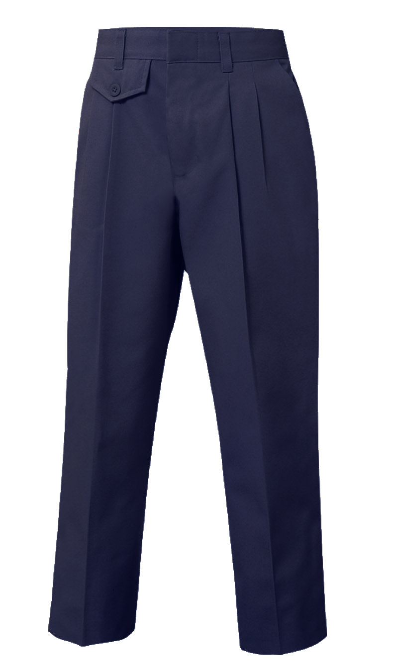 Pleated Pants-Navy, Girls – Sizes 6-16 Slim | Uniforms Plus