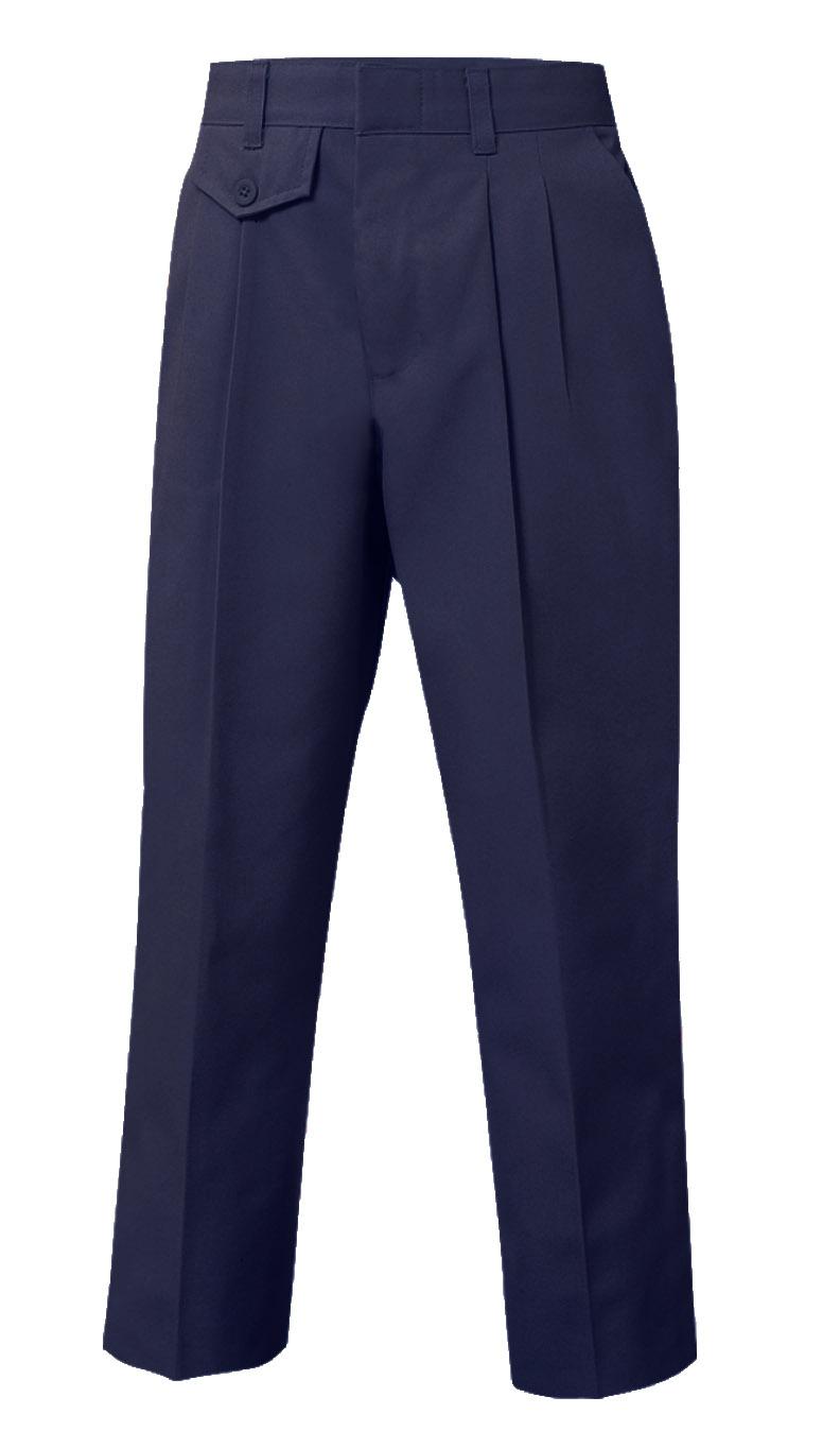 Pleated Pants-Navy, Girls – Sizes 6-16 Slim