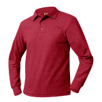 Pique Polo-Red, LS-EMB-PCA