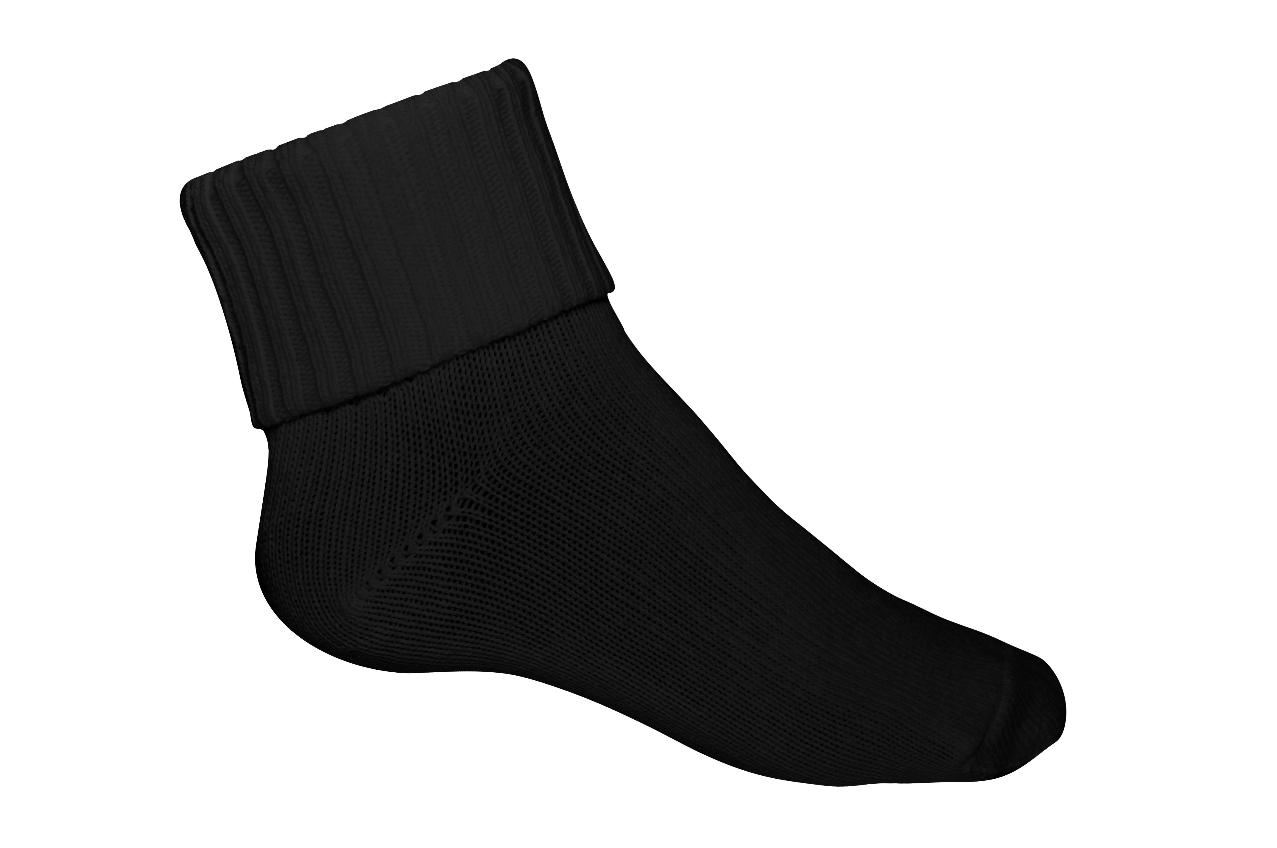 Ribbed Crew Socks 3PK – Black