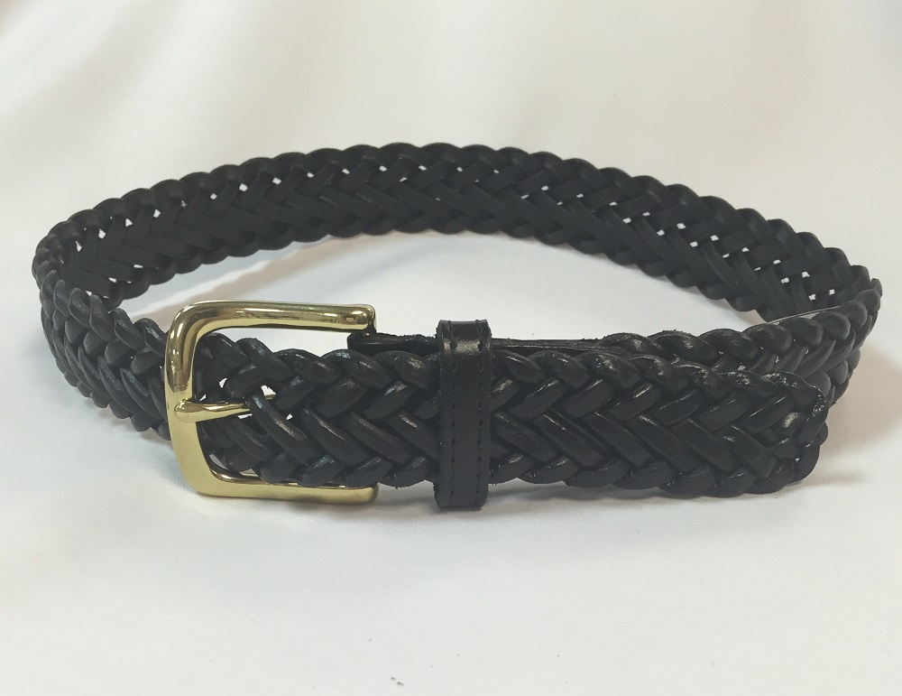 Braided Leather Belt – Size Youth S – XL