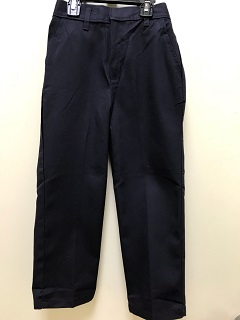 Flat Front Pants-Navy, Girls – Sizes 3-7 Youth